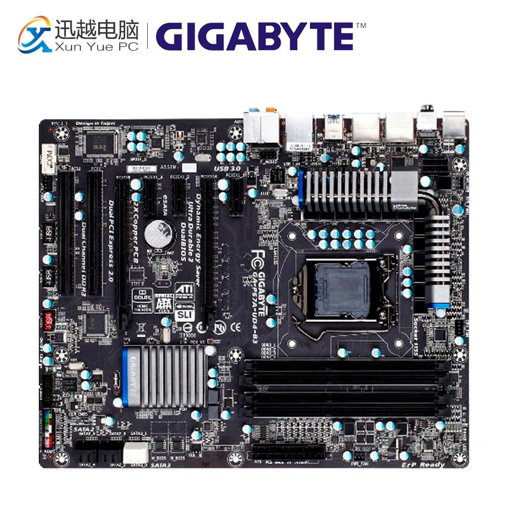 Gigabyte GA-P67A-UD4-B3 Desktop Motherboard P67A-UD4-B3 P67 LGA 1155 i3 i5 i7 DDR3 32G SATA3 ATX цены