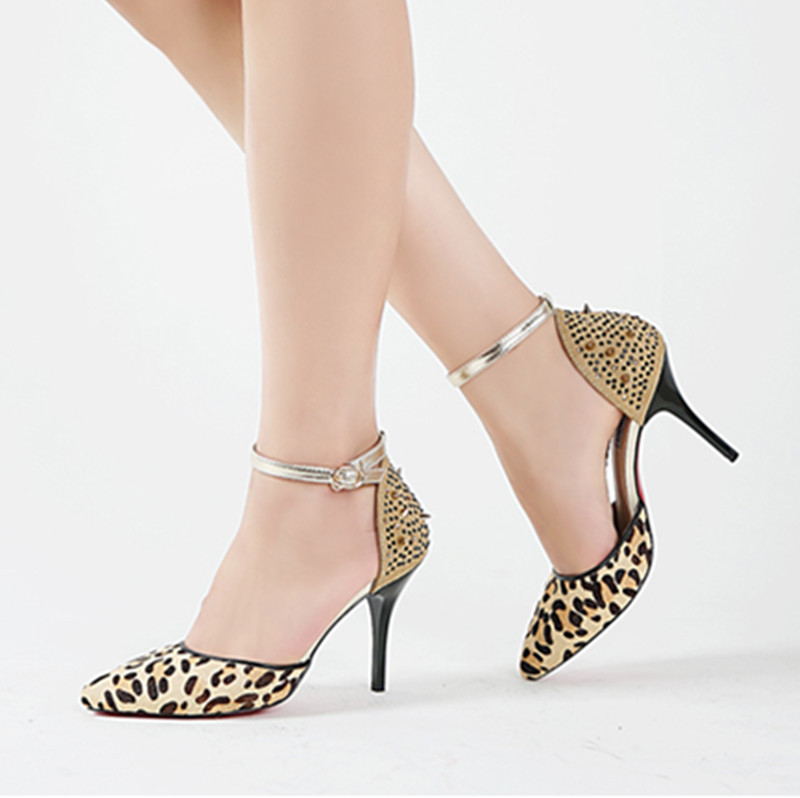 Popular Leopard Print Strappy Heels-Buy Cheap Leopard Print