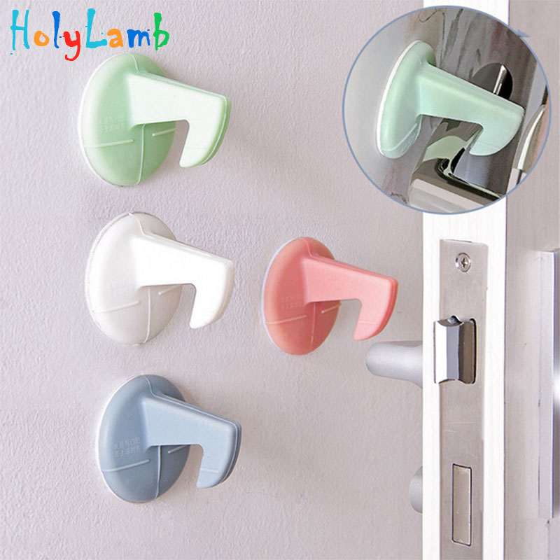 Castle Child Lock Blocker Doors Handle with Hook Protection Baby Safety Baby Newborn Care Child Lock Protection From Children