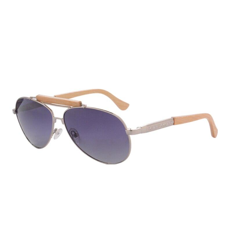 Солнцезащитные очки-авиаторы Для мужчин поляризованные очки, подходят для вождения, солнцезащитные очки с НАСТОЯЩИЙ ДЕРЕВЯННЫЙ руки унисекс UV400 защитные очки Oculos De Sol masculino 1565 - Цвет линз: gradient grey bamboo