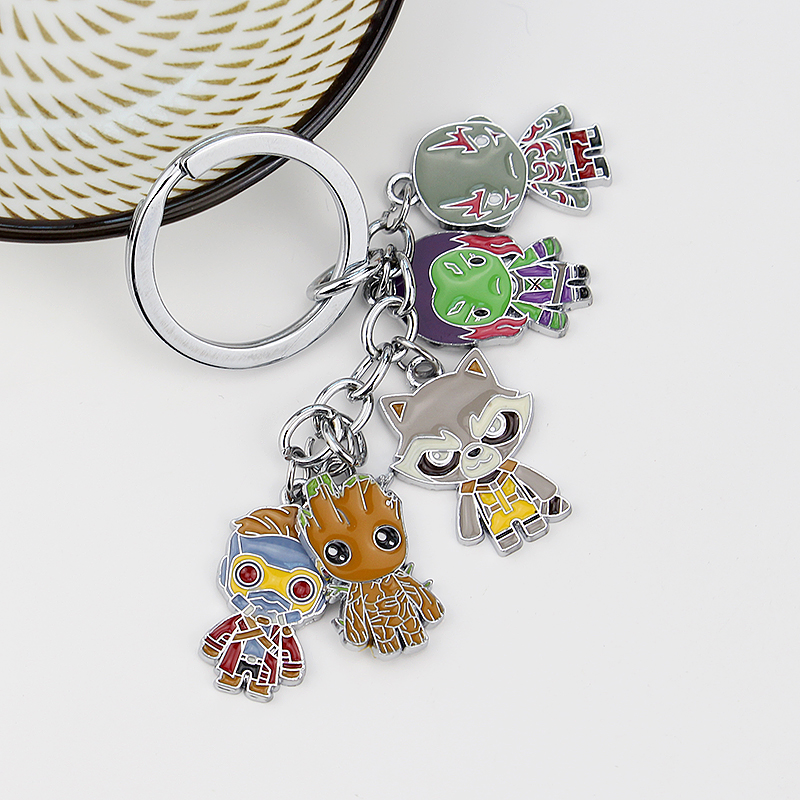 Guardians of the Galaxy Character Keychain Alien Keychain Movie Jewelry Jewelry Accessories