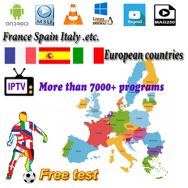 Ip ТВ espa подписку действительный 3/6/12 месяцев IP ТВ Android Ip ТВ M3U Rocksat испанско-португальский Италия Великобритания Пособия по немецкому языку французское кружево ткань для смарт-ТВ ПК