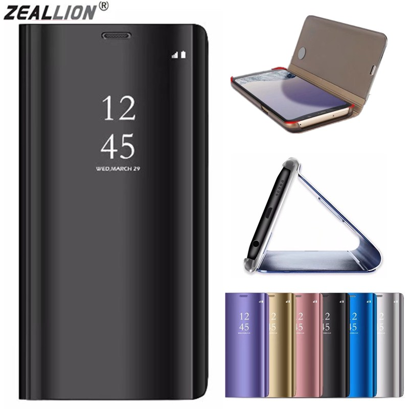 a8aa88e6f55 ZEALLION For Samsung Galaxy S6 Edge/G925 Luxury Flip Clear View Mirror  Window Leather