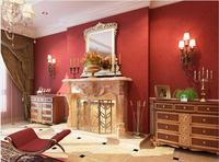 American Country Retro Romantic Red Wallpaper For Walls Living Room Bedroom Marriage Room Southeast Solid Wine Red Wallpaper