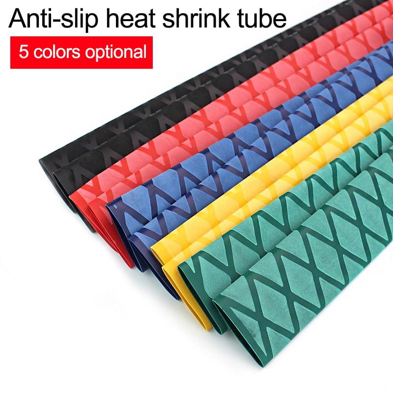Anti-slip schrumpf schlauch für angelrute DIY elektrische isolierung 5 farben 1M 15/18/ 20/22/25/28/30/35/40/50mm