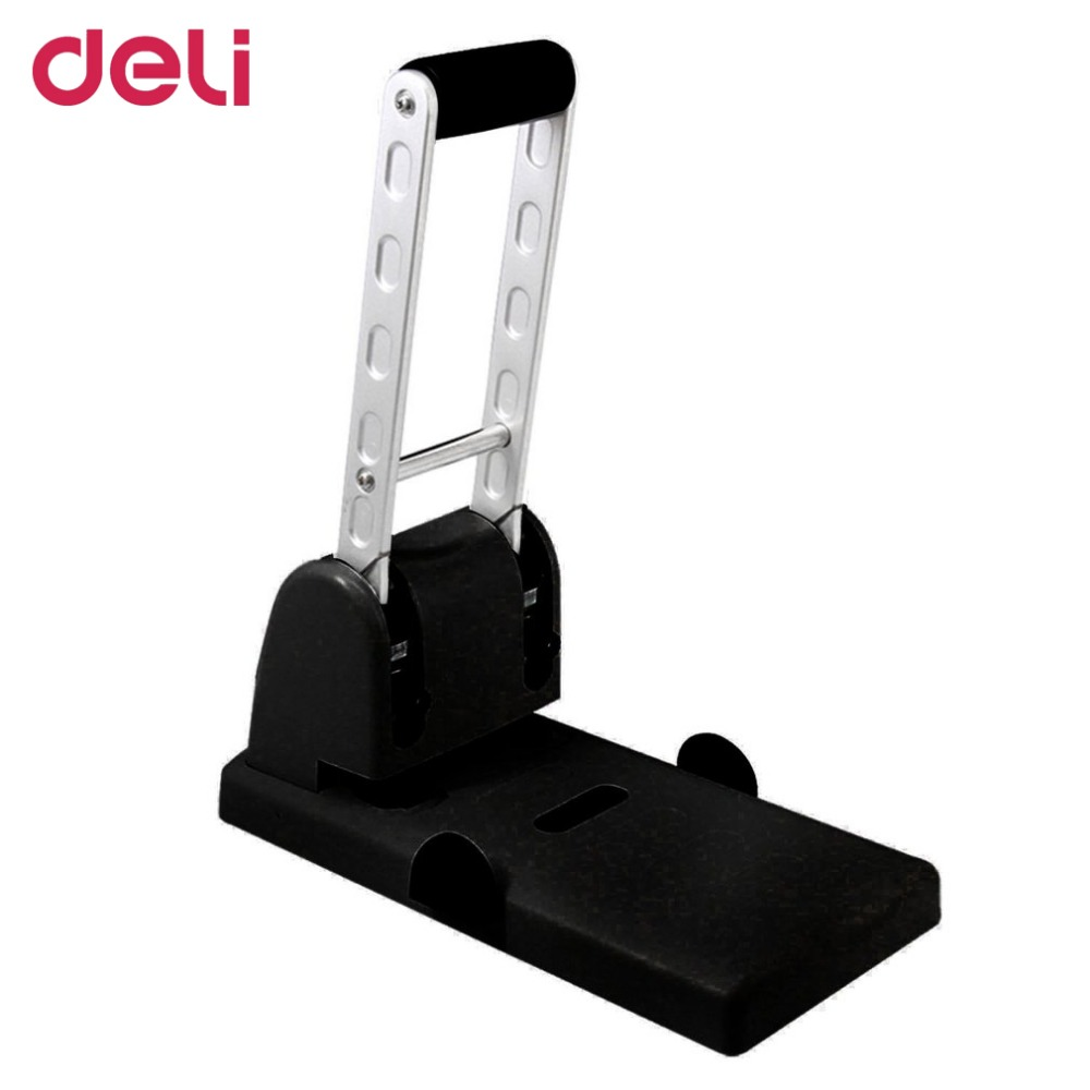 Deli 0130 Professional Heavy Duty Punch Manual Design School Office Supplies Double Holes Metal Paper Punching Machine deli manual heavy duty stapler 50 pages thick repair book make book staplers school office binding machine supplies dropshipping