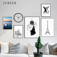 Landscape Simple Canvas Print Girl Decorative Painting Paris Tower Poster and Prints Horse Wall Picture Home Decoration