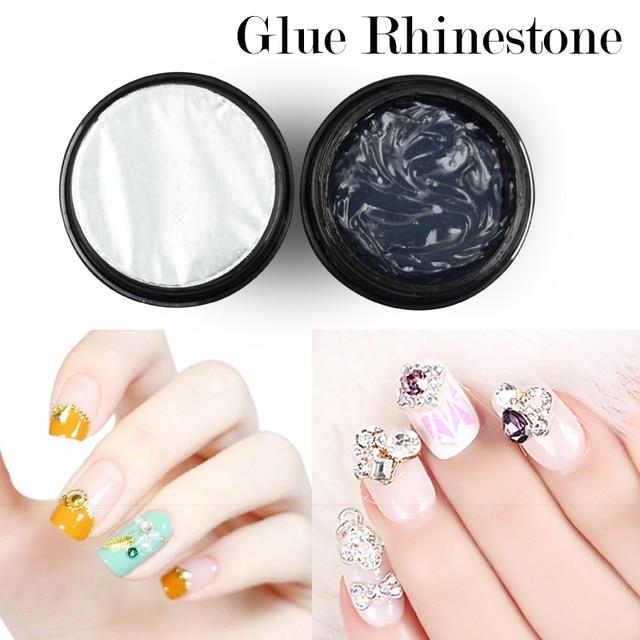 Ellwings Super Sticky Glue Rhinestone Transparent UV Led Gel Nail ...