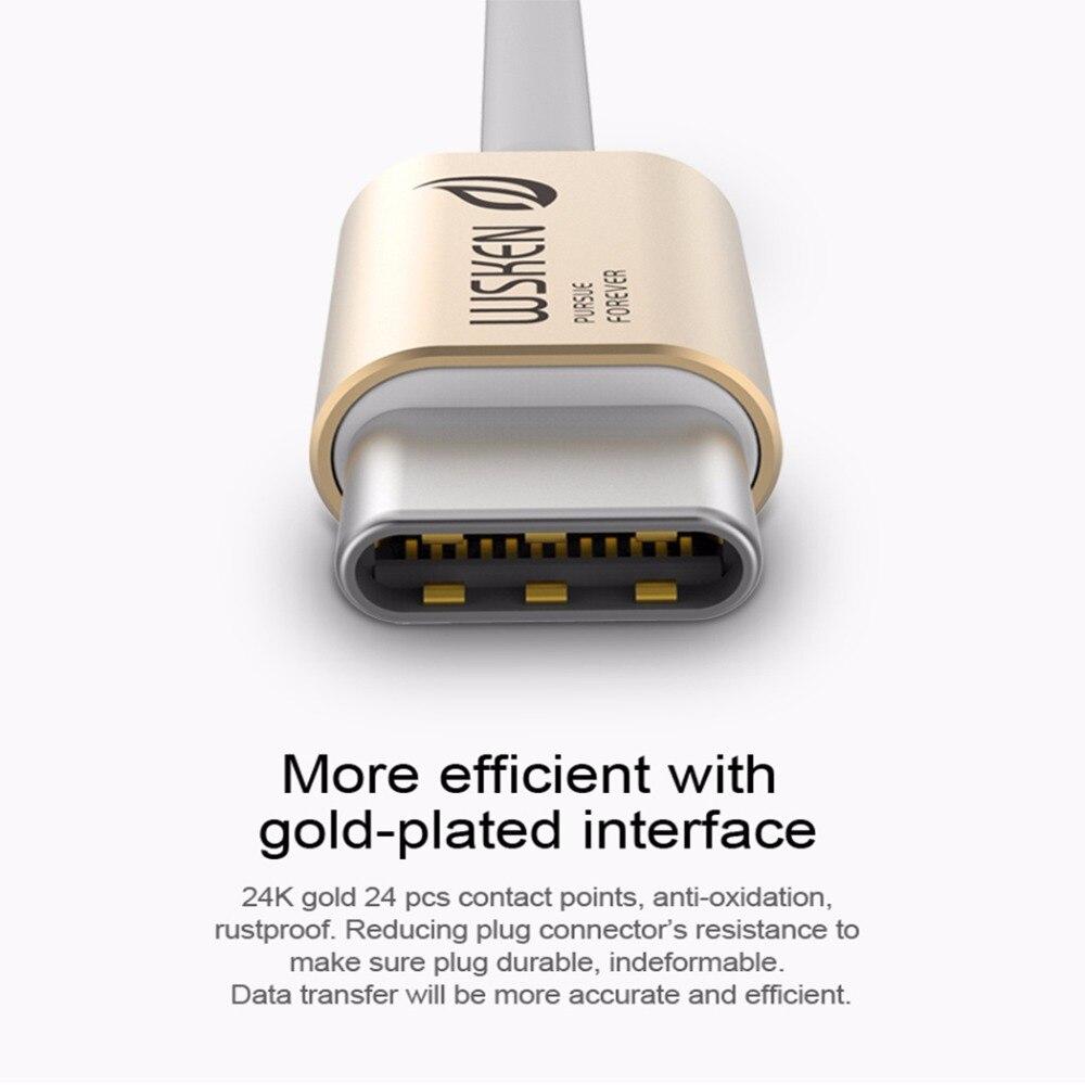 WSKEN-kabel USB C-kabel 3.0 Metaldata USB-typ C-kabel USB-C - Reservdelar och tillbehör för mobiltelefoner - Foto 3