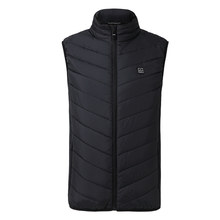 2018 Men Women Electric Heated Vest Heating Waistcoat Thermal Warm Clothing Feather Hot Sale Winter Heated Jacket new technology(China)