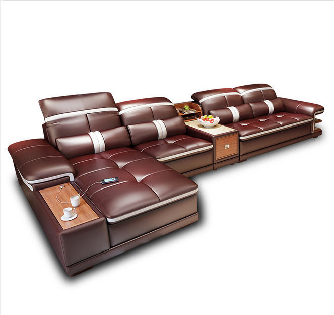 Cheap Genuine Leather Sectional Sofa: Aliexpress.com : Buy Living Room Sofa Set Furniture Real