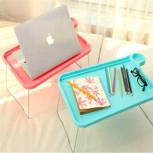 Лентяй таблице компьютерный пластика сплошной металлический пластиковый творческий кровать стол складной
