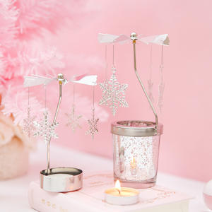 Classic fashion Dreamy Rotating Candle Holder Romantic Candlelight Dinner Home Decoration Ornaments Birthday Gift