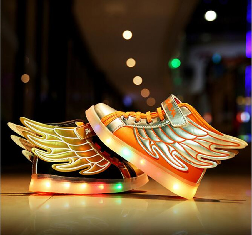 Children Fashion Sneakers led Kids Shoes With Lights LED USB Charging Baby Boys Girls Shoes Sports Chaussure Enfant 25 40 size usb charging basket led children shoes with light up kids casual boys