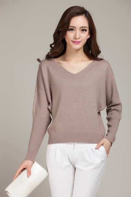 adohon 2016 womens winter Cashmere sweaters and auntmun women knitted Pullovers High Quality Warm Female thicken Batwing Sleeve