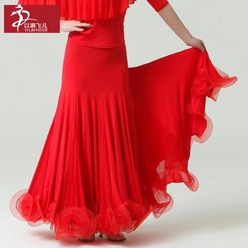 2017 Hot Sale Latin Dress Ballroom Dress Newest Design Woman Modern Waltz Tango Dance Skirt /standard Competition Costume S8025