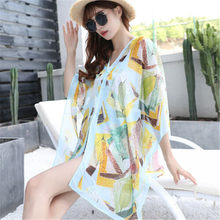 Bikini Cover Up Hot Vrouwen Kimono Zonneplek Strand Cover-up Chiffon Badmode Zomer Wrap Vest Bloemenprint Mode Badpak(China)