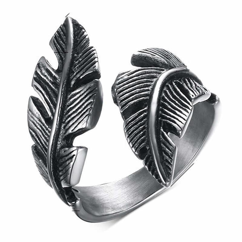 Ретро готический панковский кольцо для мужчин ретро Дракон кролик змея Тигр Волк кольца Скелет мужское кольцо Хэллоуин ювелирные изделия Anillo Hombre Bijoux