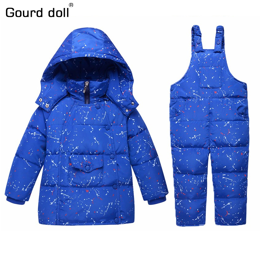 Children's Girls Boys 90% Warm Duck Down clothing set kids winter jacket overalls for girl down & parkas Suitable 2-4 years russia winter boys girls down jacket boy girl warm thick duck down