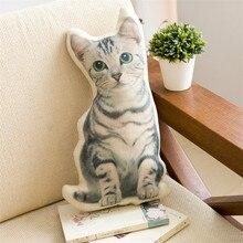 Creative 3D Printed Cute Animal Stripe Cat Pillow For Chair Pillow Car Sofa Cushion Office Home Decor