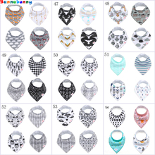 2018 Newest 18 design 4pcs/lot ins burp baby bibs saliva towel Arrow animal cartoon cloths triangle cotton bandana accessories