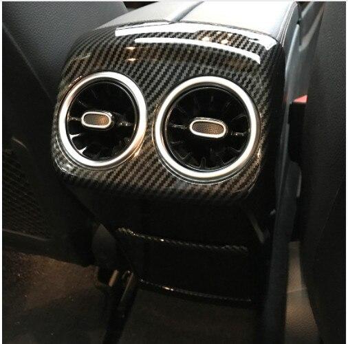 Arrière boîte pour accoudoir sortie d'air revêtement d'habillage Autocollants pour Mercedes Benz W177 A200 A220 A250 Accessoires style de voiture