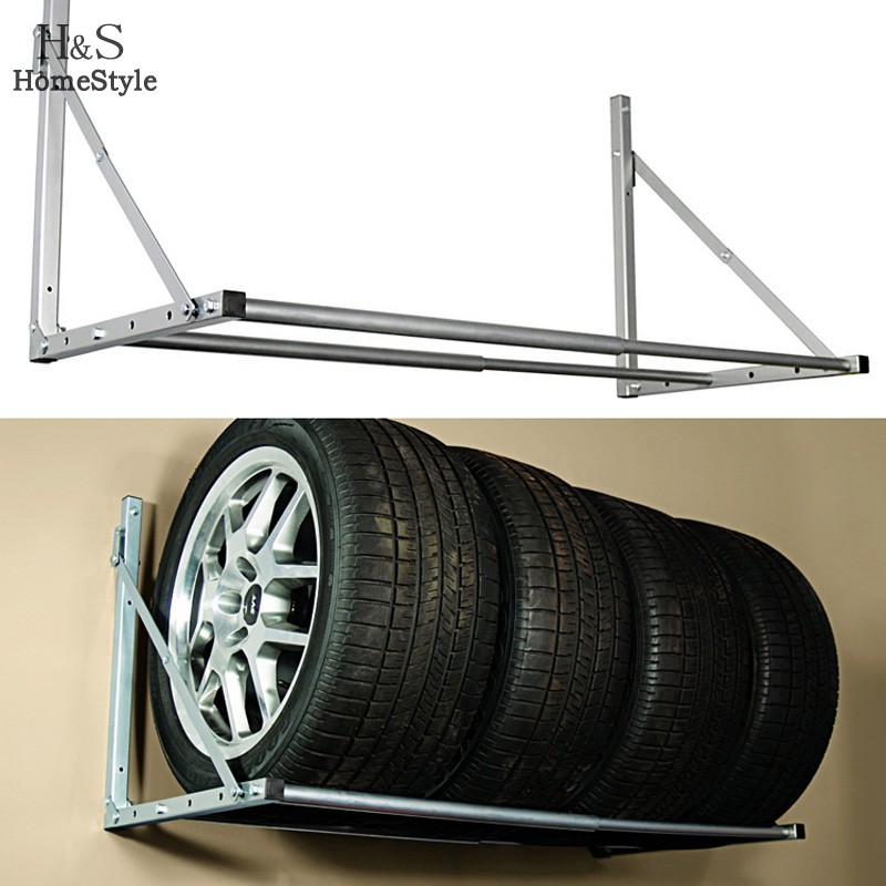 Homestyle New Folding Tire Wheel Rack Storage Holder ...