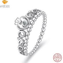 Wybeads 100% 925 plata esterlina mi princesa anillos apilables con clear cz anillo para las mujeres de moda femenina original de fabricación de la joyería