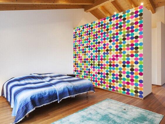 Personnalisé Moderne Papier Peint Géométrique Cercle Motif Abstrait Murale Pour Salon Chambre Tv Toile De
