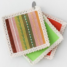 Cotton weaving square heat insulation cup mat 15*15cm pad free shipping