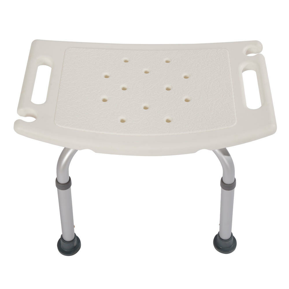 Elderly Adjustable Medical Bath Tub Shower Chair Bench Stool Seat 7 Height 3