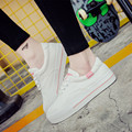 white casual shoes for women espadrilles thick sole flat canvas shoes low upper lace up skate shoes chaussure femme XK081608