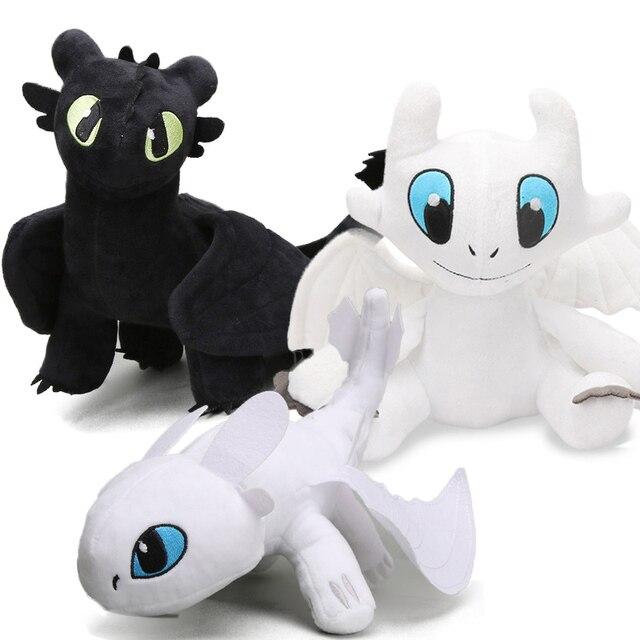 33-44 m Brinquedos Como treinar O Seu Dragão Desdentado Fúria Da Noite Plush Fúria 3 Luz Suave Stuffed Animal juguetes de Peluches bonecas bebe
