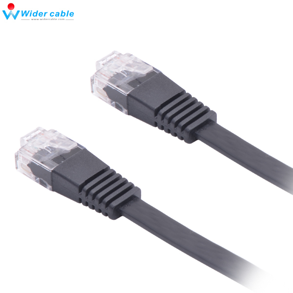 Flat Cat5 Cable : P c flat ethernet cable m rj lan wire black awg utp
