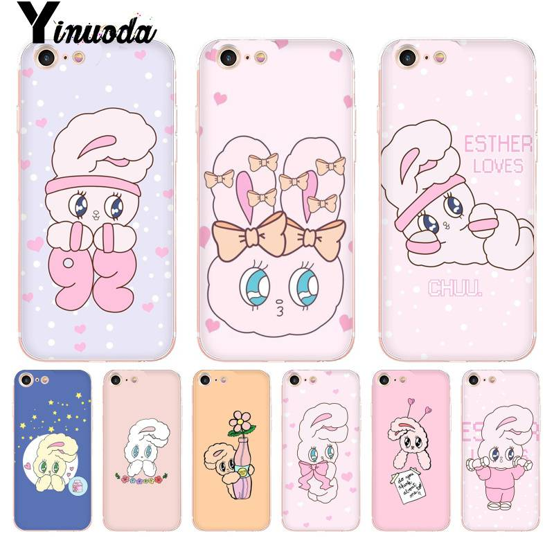 Lovely Yinuoda For Iphone 7 6 X Case Rabbit On The Moon Transparent Phone Cover Case For Iphone 8 7 6 6s Plus X 5 5s Se Xr Xs Xsmax Half-wrapped Case Cellphones & Telecommunications