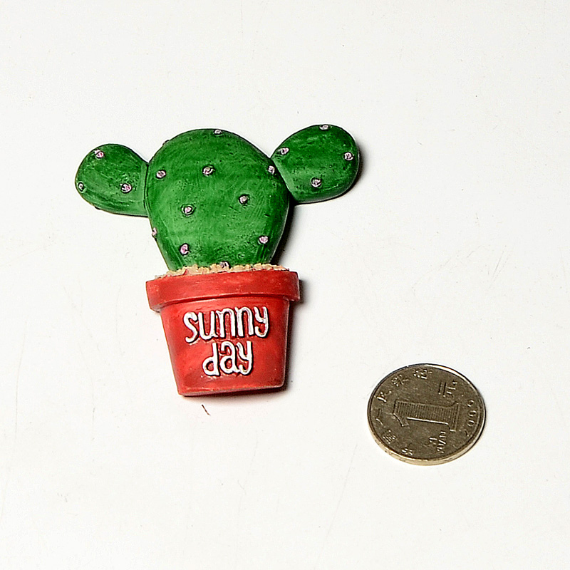 4pcs creative fridge magnet lovely cactus three dimensional magnetic stickers in fridge magnets from home garden on aliexpress com alibaba group