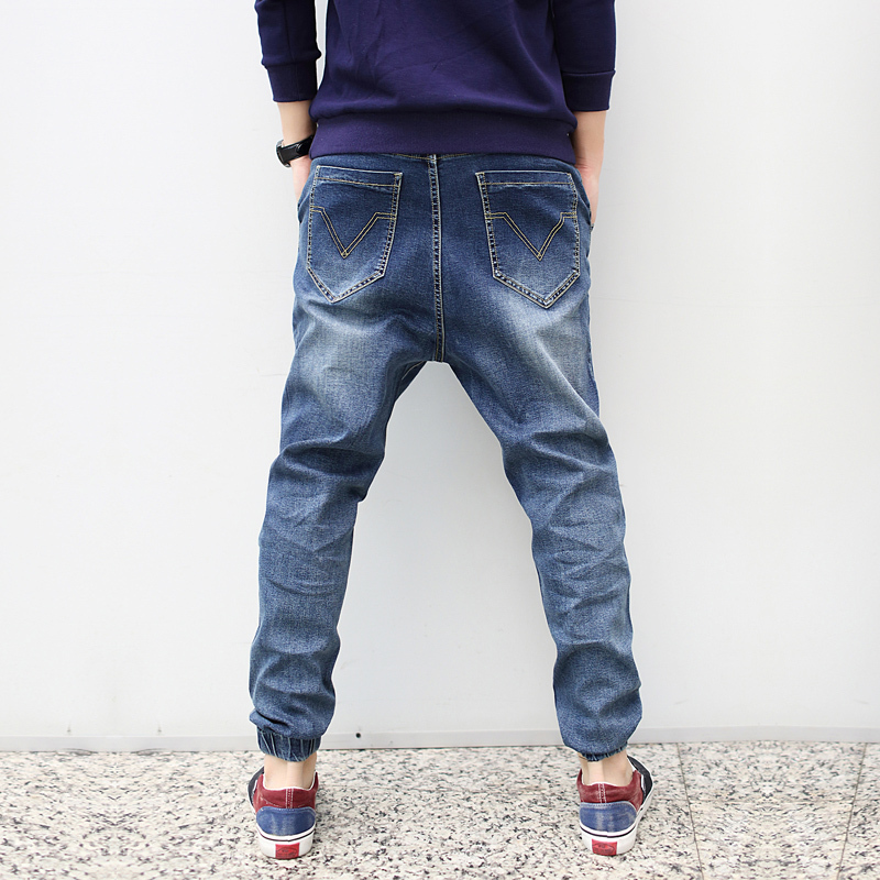 Korting Goedkope Heren Stretch Jeans Losvallende Baggy Hiphop Cargo - Herenkleding - Foto 2
