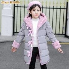 Новинка года; модное зимнее пальто с искусственным мехом для девочек теплая парка детская одежда для малышей детская утепленная Вельветовая одежда;-30