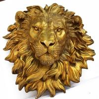 Copper bronze decoration pendant copper lion head Home Furnishing town house art office Abstract animal decoration