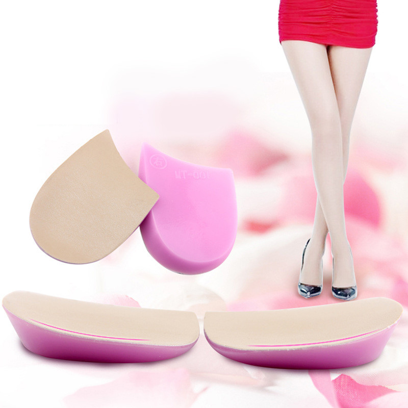 Soft Silicone O&X Leg Orthotic Heel Cushion For Shoes Gel Shock Cushion Insole Increased Plantar Foot Care Half-Height HG-004 все цены