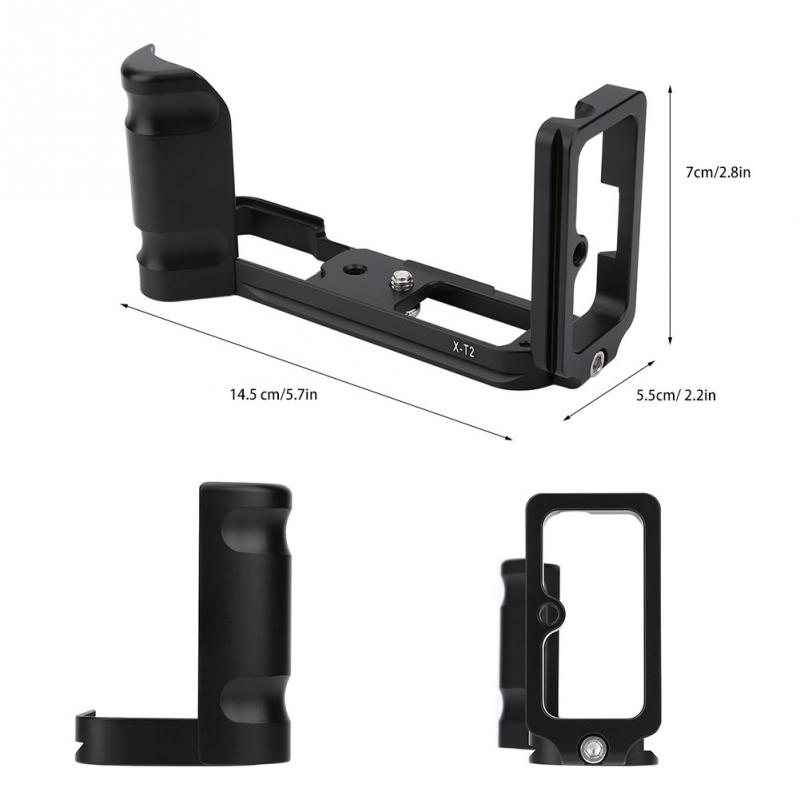 Quick Release Plate Bracket with L-Shaped Vertical Hand Grip Holder for Fujifilm X-T2 XT2