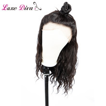 LUXE DIVA 360 Lace Frontal Wigs Pre Plucked With Baby Hair Peruvian Body Wave Human Hair Lace Front Wigs For Black Women Remy(China)