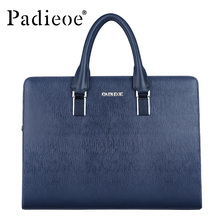 Men Genuine Leather Briefcases 16 Antique Messenger Bags Handbags Male High Quality Fashion Shoulder Bags Men's Totes Bag