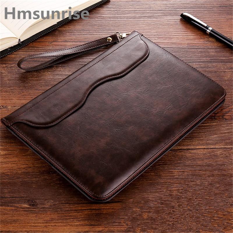 Hmsunrise Leather Case For apple ipad 9.7 inch 2017 Ultra Thin Folio Flip Stand Cover Auto Wake Sleep for ipad A1822 A1823