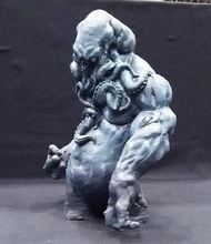 Free shipping 1/5 Scale Unpainted Resin Figure Octopus Lords (about 16cm)