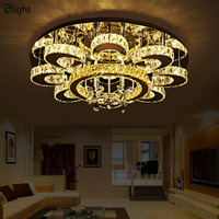 Modern Dimmable Luminaria Lustre Led Ceiling Light Plate Steel Foyer Ceiling Lamp Bedroom Chrome Ceiling Fixtures