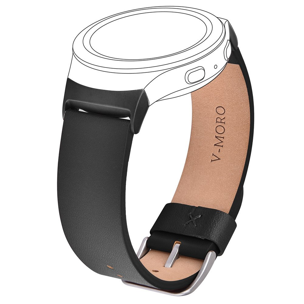 купить V-Moro 2017 Wristband For Samsung Gear S2 20MM Band+Adapter Soft Leather Strap For Samsung Gear S2 SM-R720 SM-R730 Sports Straps недорого