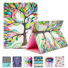GOOYIYO – For Apple Pad Air iPad 5 Flip PU Leather Case Tablet Painting Cover Shell With Cute Wallet Card Holder Book Stand