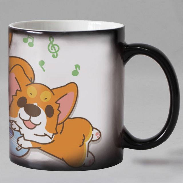 11oz Personalized Dog Mug Heat Sensitive Coffee Mugs Ceramic Color Changing Magic Tea Cups Kids Untique
