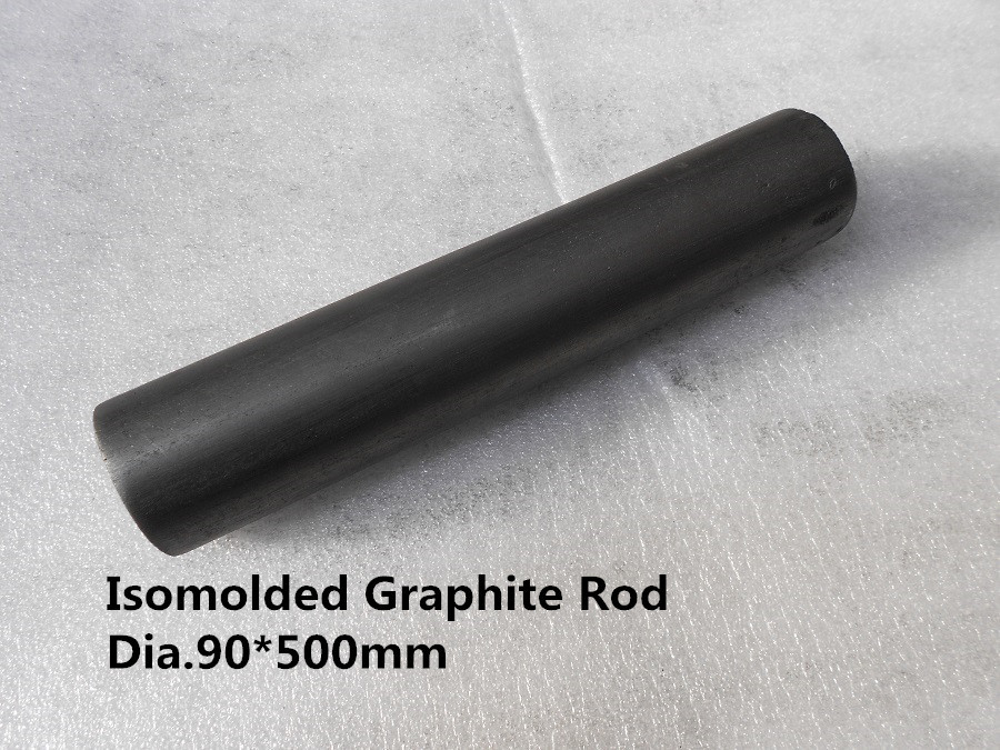 Isomolded Graphite Rod Dia.90*500mm for brass casting /graphite rods sticks for copper melting dia 60 400mm graphite rods graphite stick from lantern battery graphite sealing ball